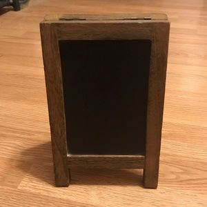 Stand up Chalkboard and cork board